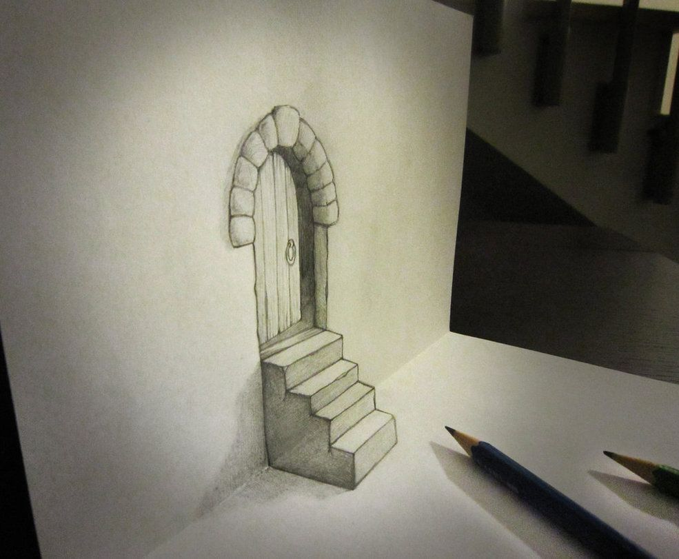 3D Pencil Drawing Pencil Sketch