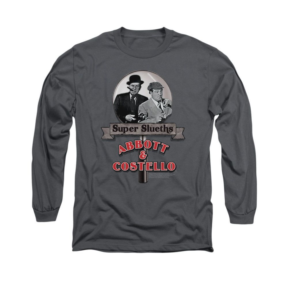 ABBOTT & COSTELLO/SUPER SLEUTHS - L/S ADULT 18/1 - CHARCOAL