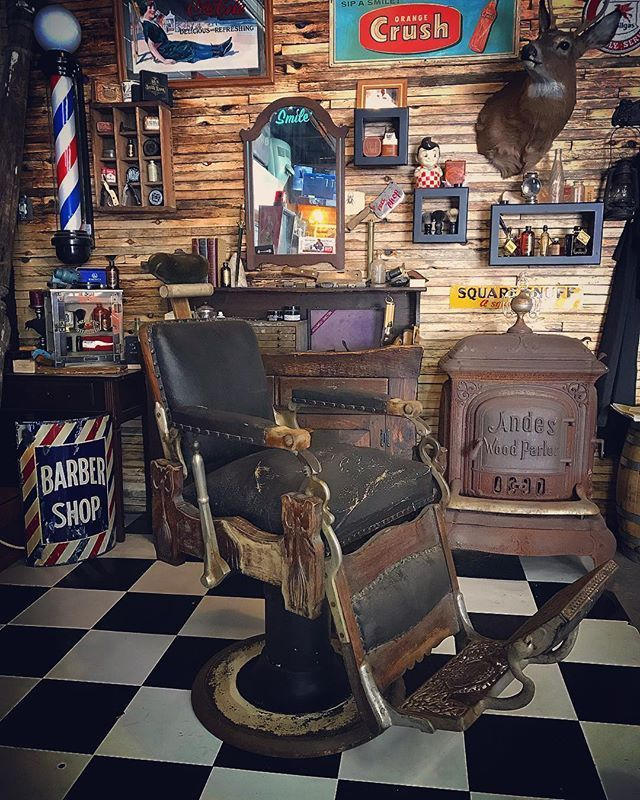 """The Holy Black on Instagram: """"Got a great new addition to the compound. 1912 Koken Barber chair. It's unbelievable how when you sit in this chair you can just feel the…"""""""