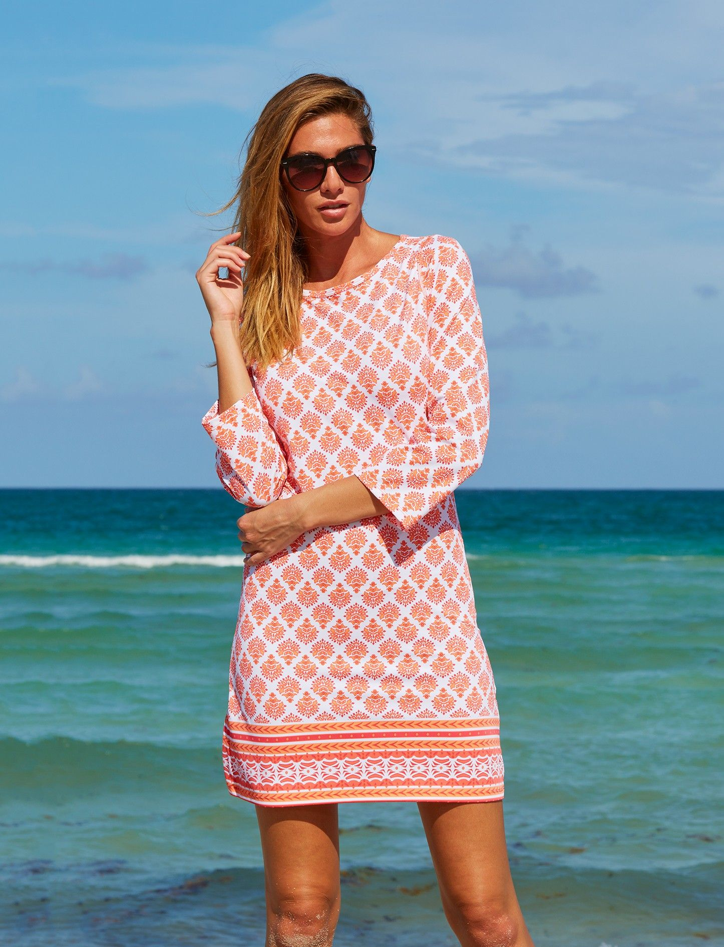 15e89be2a3 Nantucket Sound Cabana Shift Dress. Cabana Life 50+ UPF Sun Protective  Clothing.
