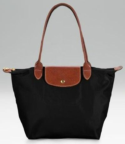 Black And Brown Longchamp Top Handle Shoulder Hang Bag Very Simple Yet Stylish Design For A Versatile Hand That Can Be Worn Casually Or In The Evening