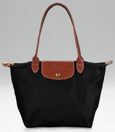 Black and brown Longchamp top handle/ shoulder hang bag. Very ...