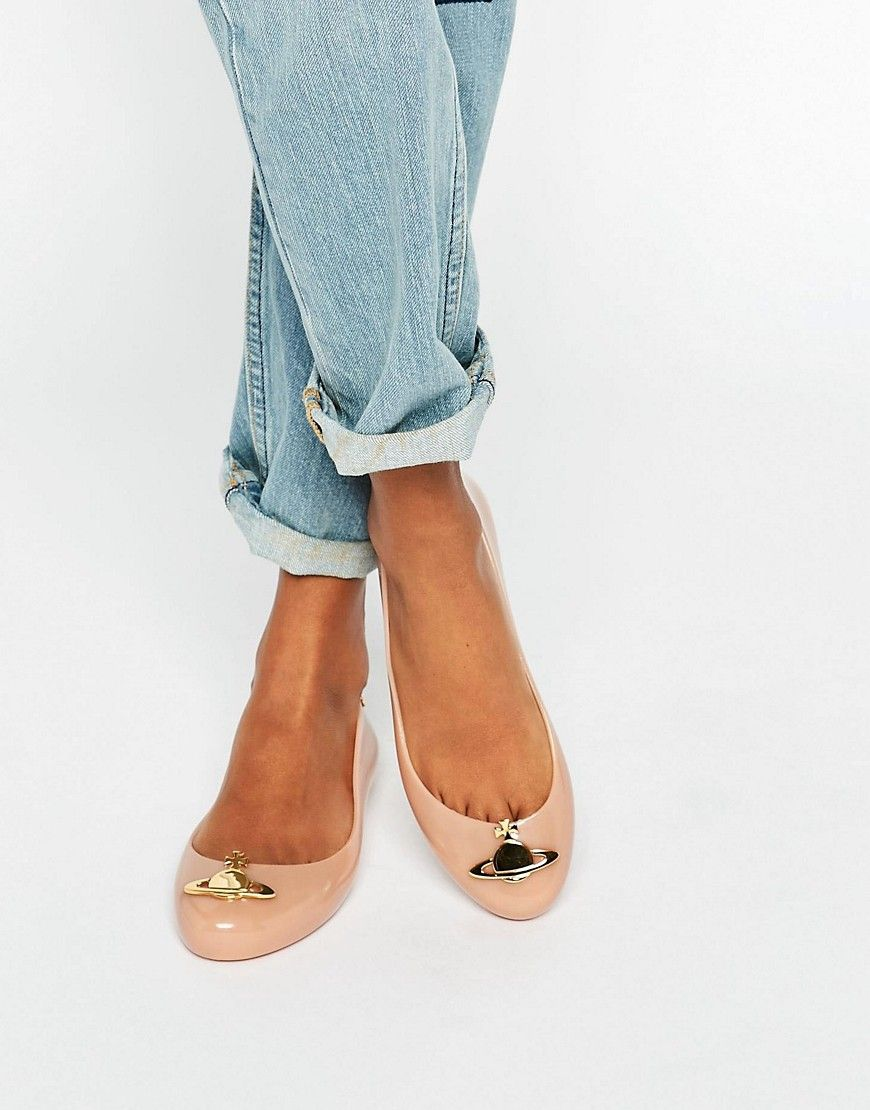 11c0aba5baa Vivienne Westwood for Melissa Space Love Orb Nude Flat Shoes ...
