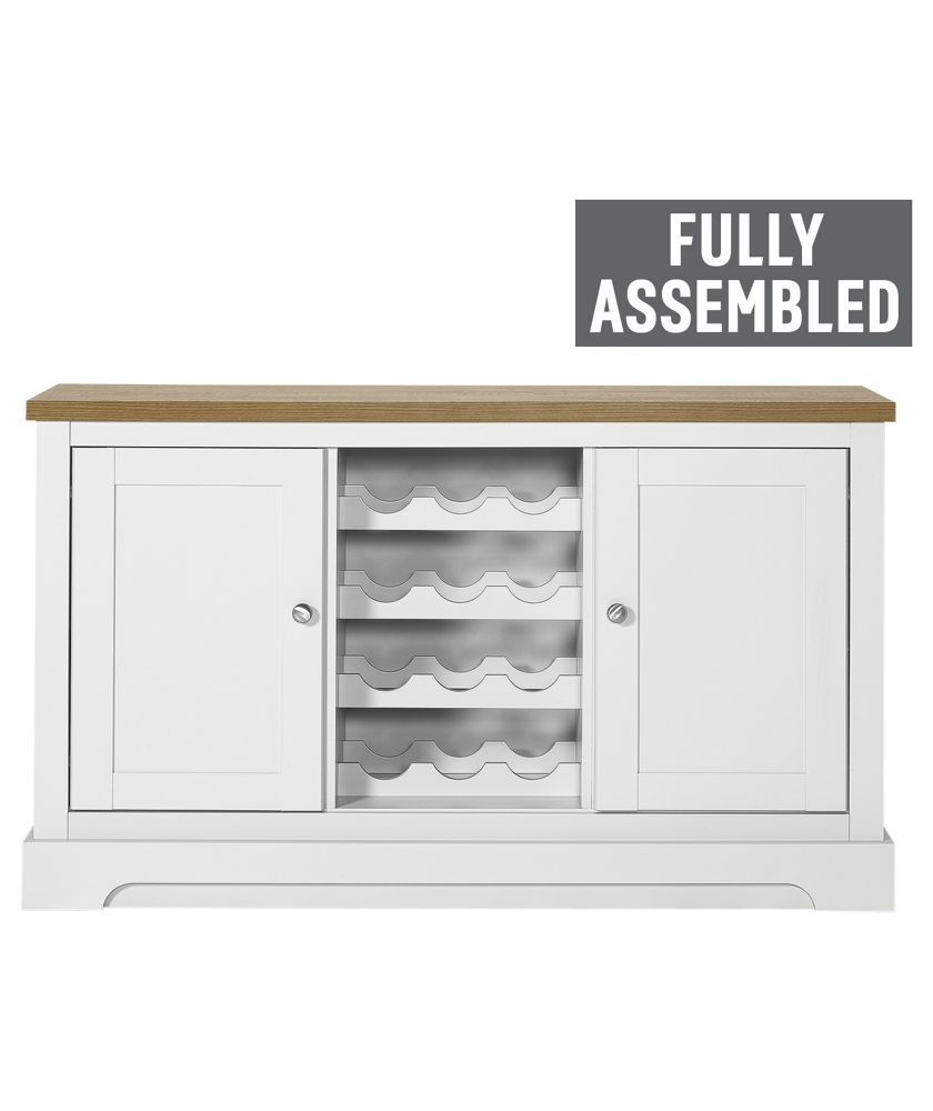 Buy Heart of House Westbury Sideboard with Wine Rack White at Argos co uk Your Online Shop