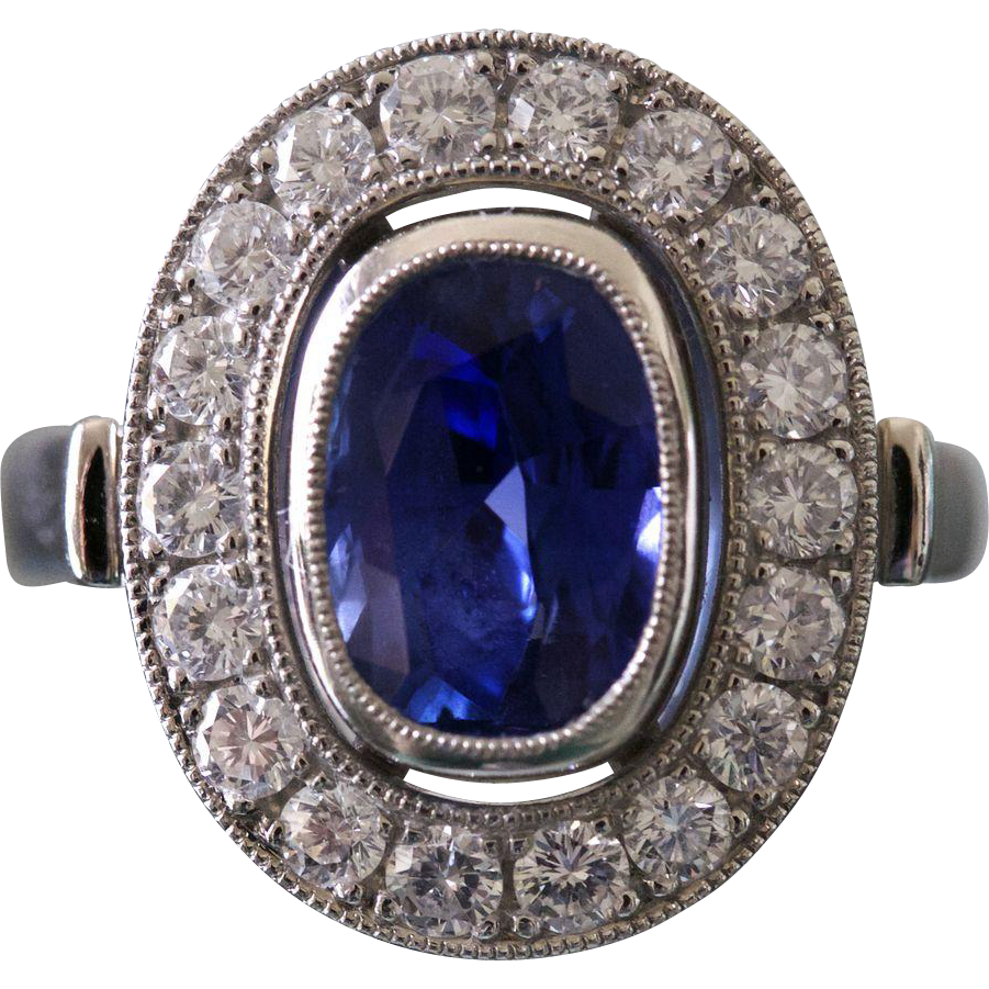 and sapphire diamond burma west platinum beach palm ring