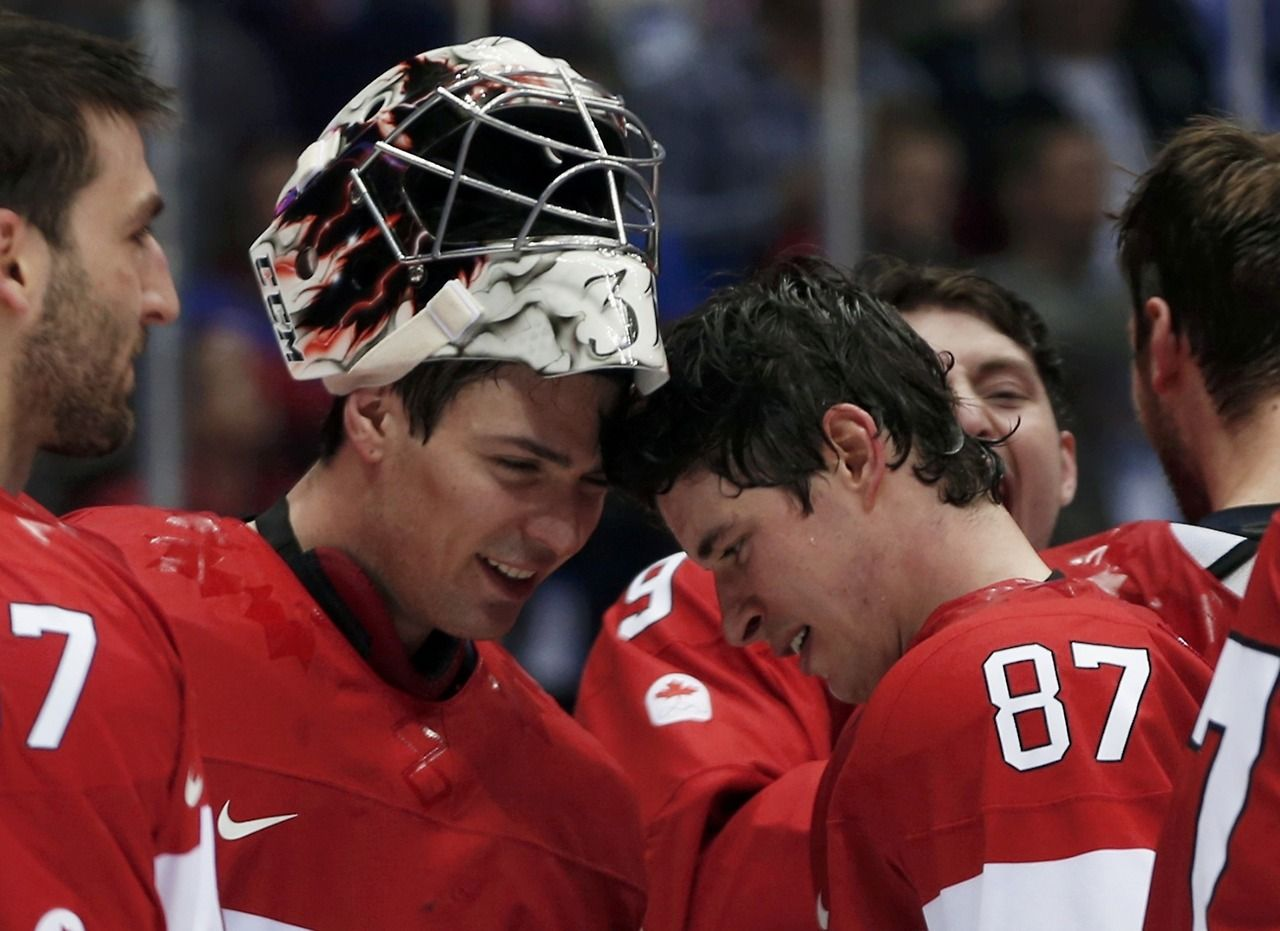 Carey Price and Sidney Crosby share a mind melding moment