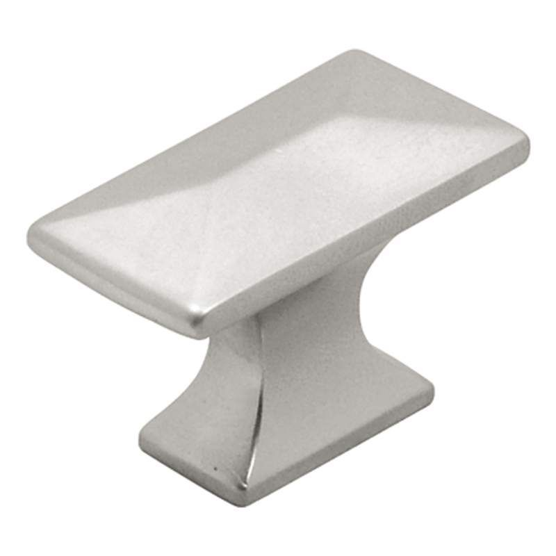 Hickory Hardware P2150 Bungalow 1-1/4 Inch Long Rectangular Cabinet Knob Pearl Nickel Cabinet Hardware Knobs Rectangular