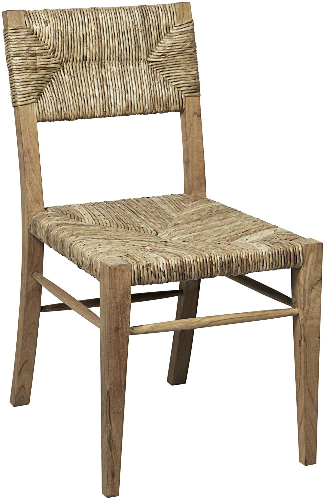 Small Stewart Teak And Seagrass Dining Chair Seagrass Dining