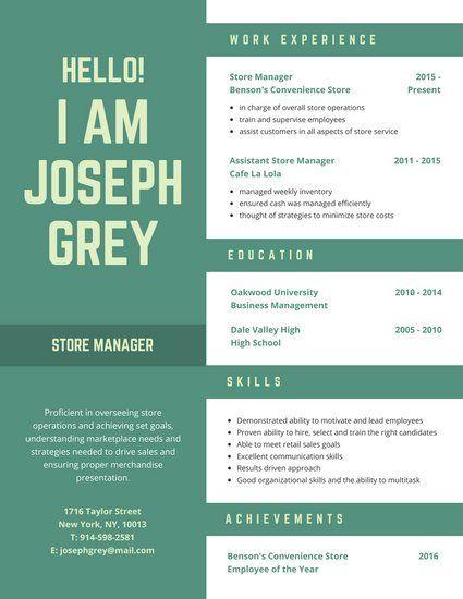 Green Masculine Creative Resume  Botchi    Creative
