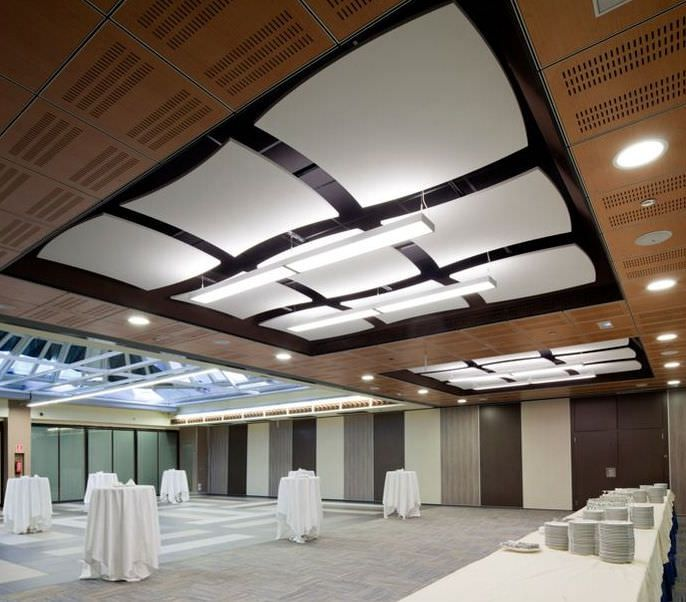 Acoustic Suspended Ceiling Mineral Fiber Floating