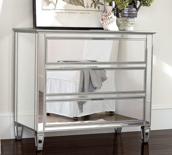 Park 3 Drawer Mirrored Dresser Dresser With Mirror