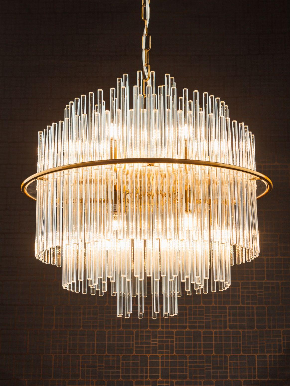 Decorative Glass Rod Pendant Chandelier