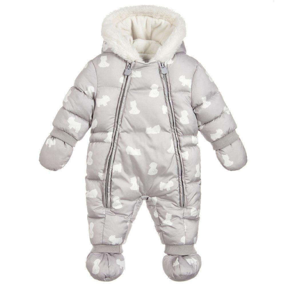 ba0dd4bf90cc Mayoral Newborn Grey Polar Bear Snowsuit. Shop from an exclusive ...