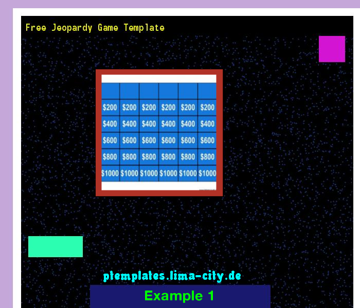 Free Jeopardy Game Template Powerpoint Templates   The