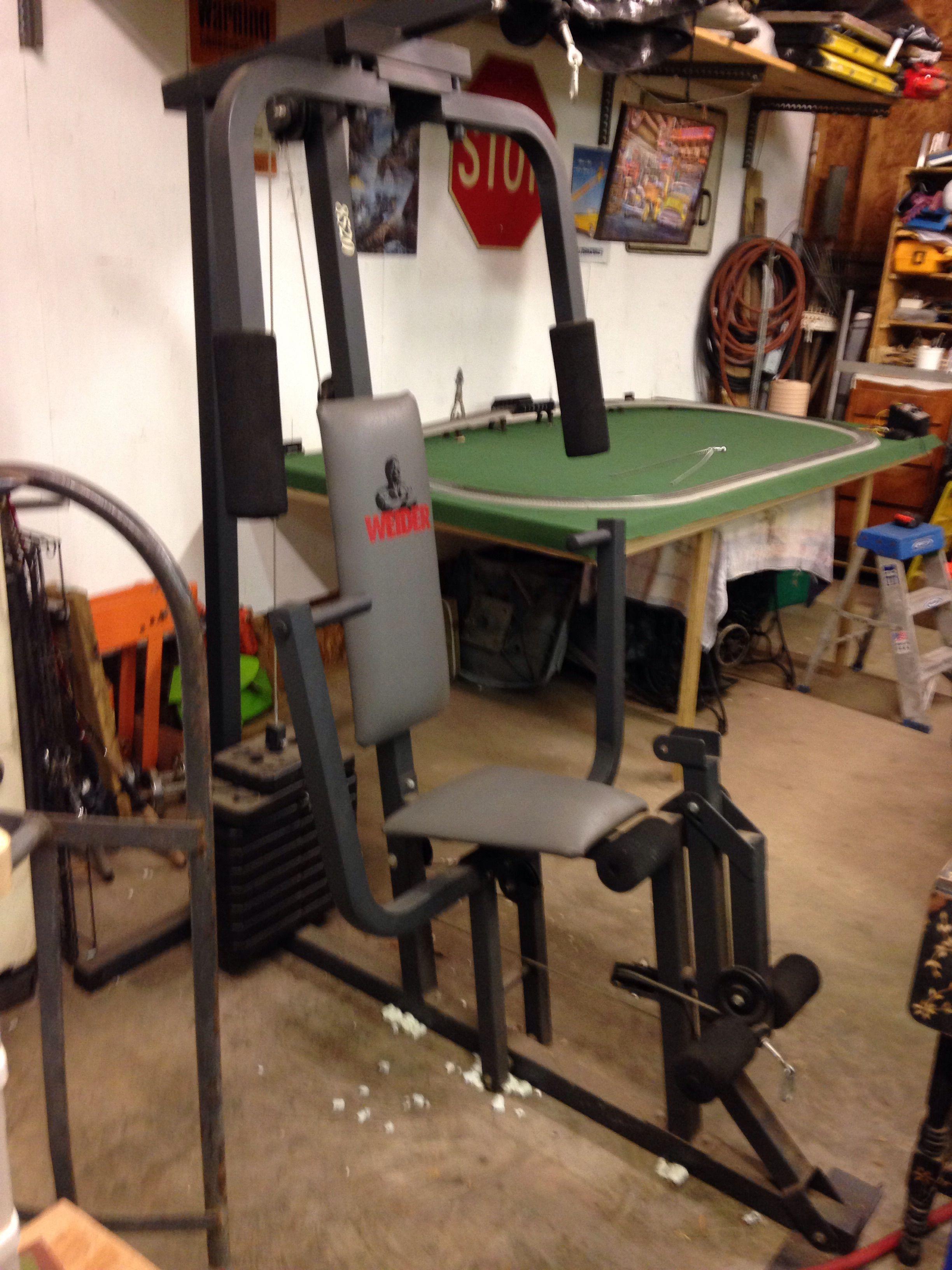 Weider home gym system in justen s garage sale