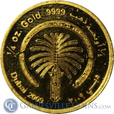2009 Dubai 1 4 Oz Gold Palm Jumeirah 9999 Pure Pure Products Gold Coins Buy Gold And Silver