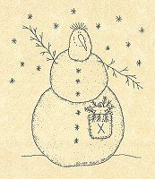 Blizzy Snowman Stitchery Pattern Patterns Christmas
