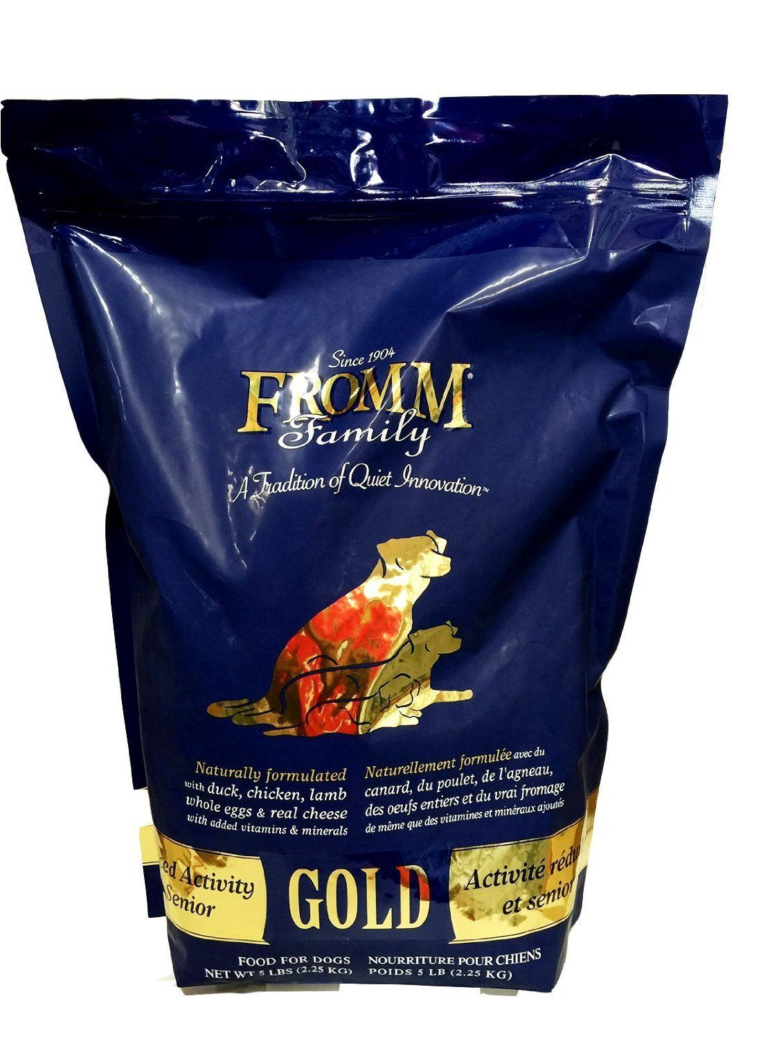 Fromm Gold Nutritionals Senior Dry Dog Food 5 Pound Bag Check