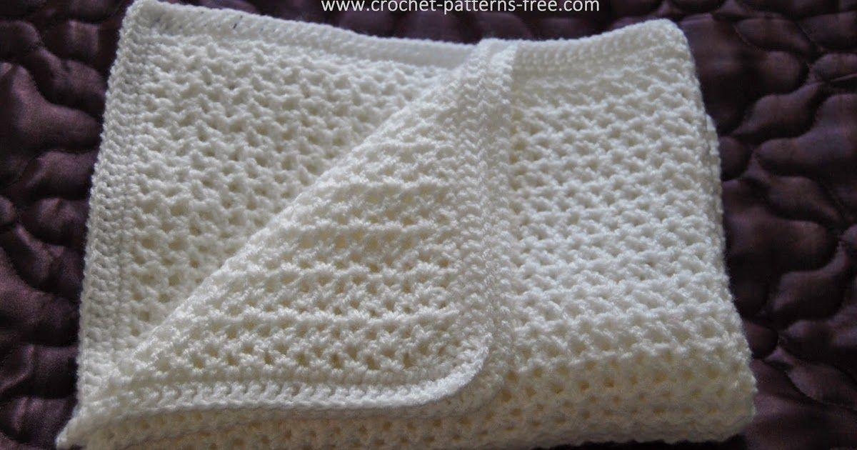 Free Crochet Baby Blanket Pattern HOW TO Easy Crochet V Stitch Baby ...