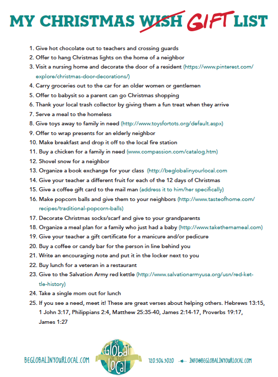 My Christmas GIFT List Awesome Ideas For Ways Kids Can GIVE This