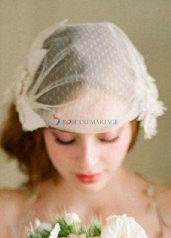 Rétro Juliette bonnet pour mariée