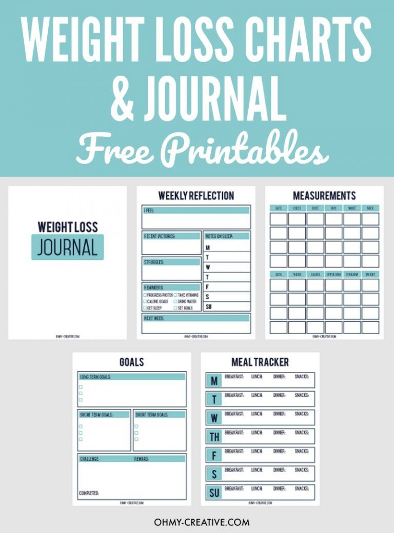 printable weight loss chart and journal for weight loss success