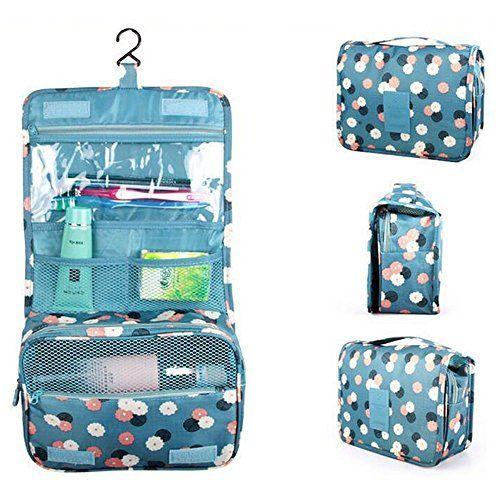 Kokome Portable Hanging Toiletry Bag Personal Organizer Bags - Travel bag for bathroom items for bathroom decor ideas