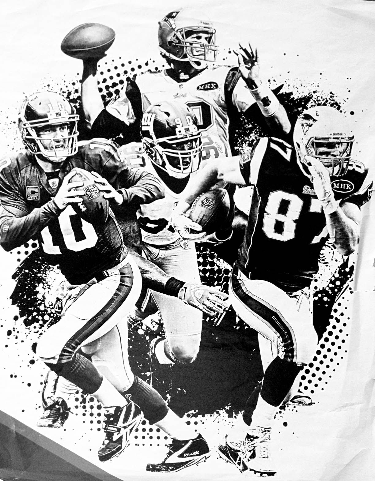 NFL composite B/W