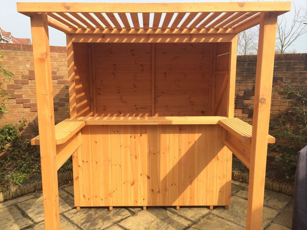 Marvelous The Mini Sports Bar. Garden Bar With Removable Security Hatch