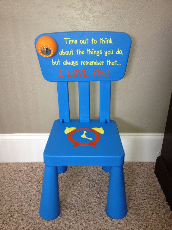 Personalized Time Out Chair With Timer Diy Kids Chair Time Out