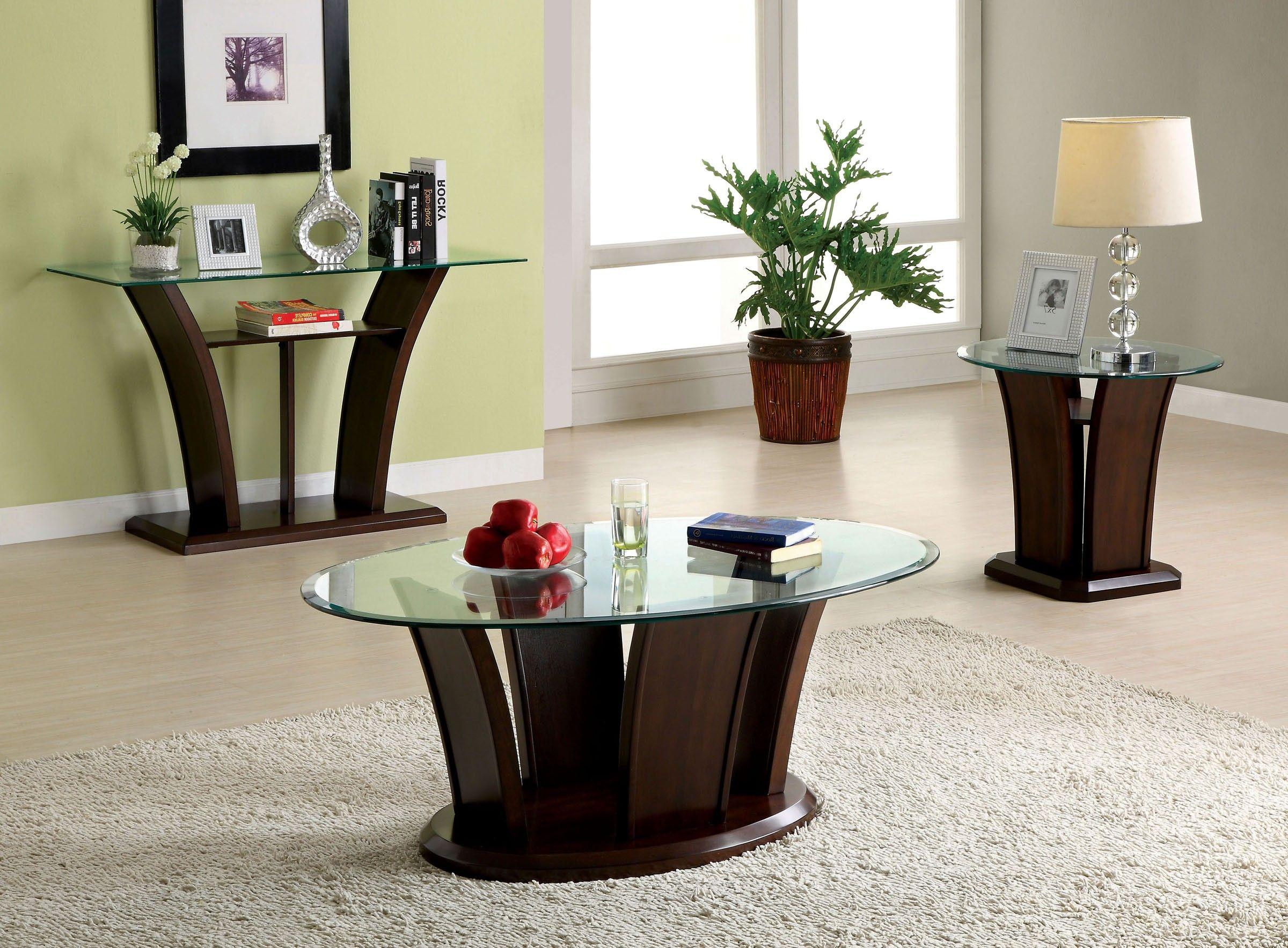 Manhattan Iv Cm4104 3 Pcs Contemporary Dark Cherry Coffee Table Set Cherry Coffee Table 3 Piece Coffee Table Set Glass Top Coffee Table [ 1767 x 2400 Pixel ]