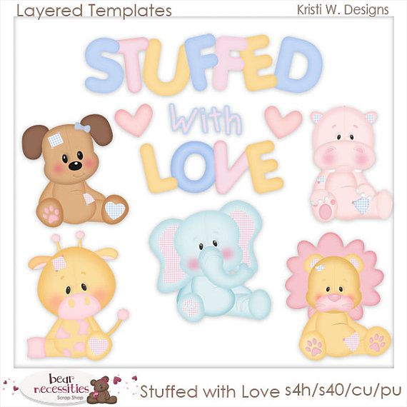 Stuffed with Love Baby Animals Toys Dog Giraffe by marlodeedesigns, $5.00