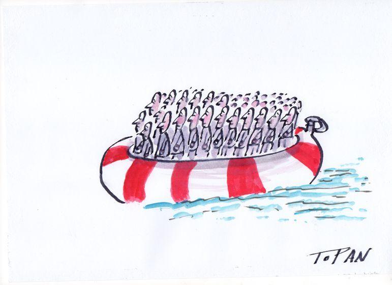 Cristian Topan - Romania, Bucharest (2015-08-31)  migrant ilusion