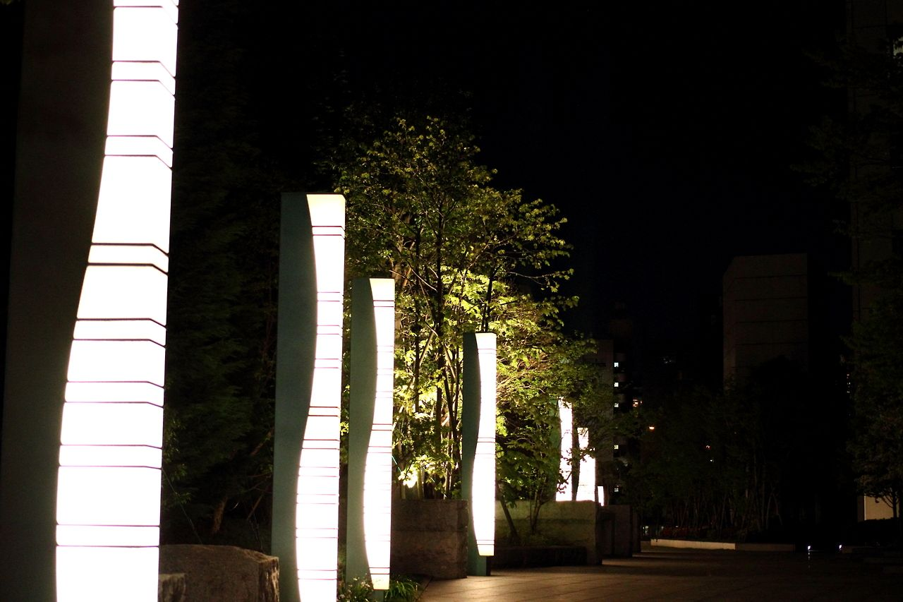 Tokyo,objects with illuminated in the night.