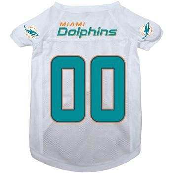 Miami Dolphins Dog Jersey - Miami Dolphins White  4ef4a9169