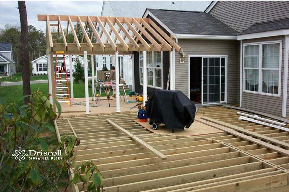 Margate Decks Driscolldecks Patio Installation Gable Roof Design Roof Extension