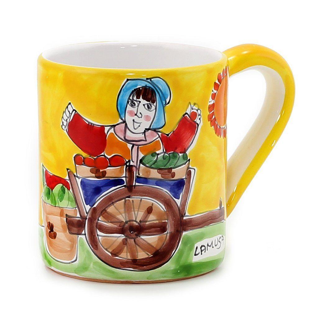 LA MUSA Jumbo Mug 16 Oz Mercato Sicilian Farmer Market  sc 1 st  Pinterest & LA MUSA: Jumbo Mug 16 Oz Mercato Sicilian Farmer Market | Products ...