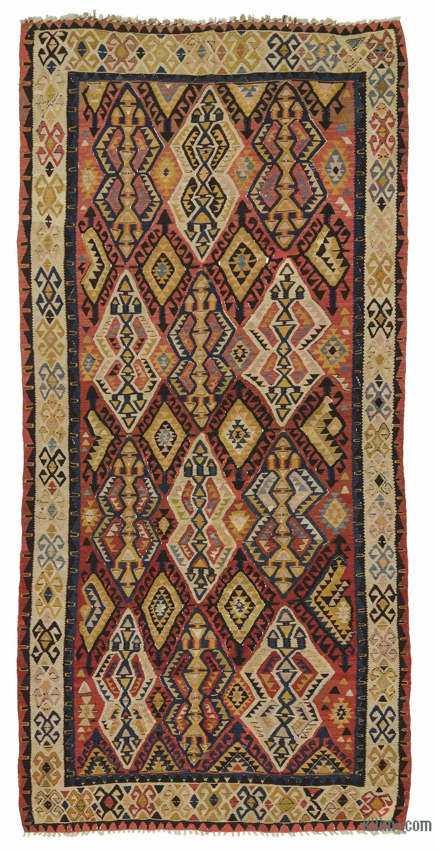 Multicolor Antique Avar Kilim Rug K0007939 Rugs, Kilim