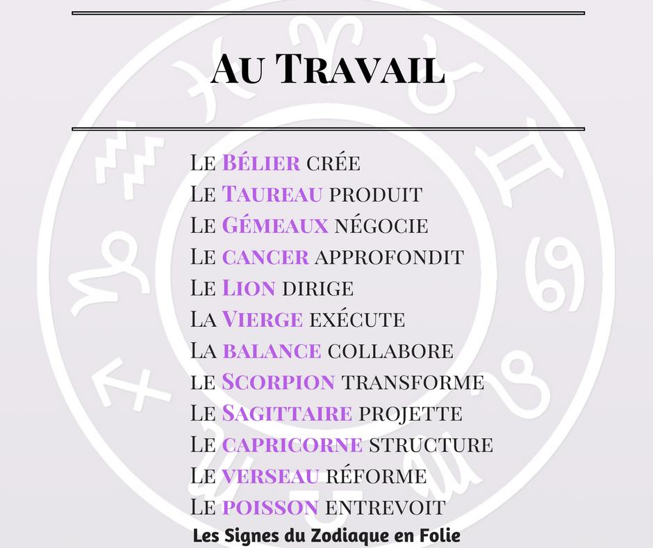 Les Signes Du Zodiaque Et Le Travail Zodiaque Signe Du Zodiaque