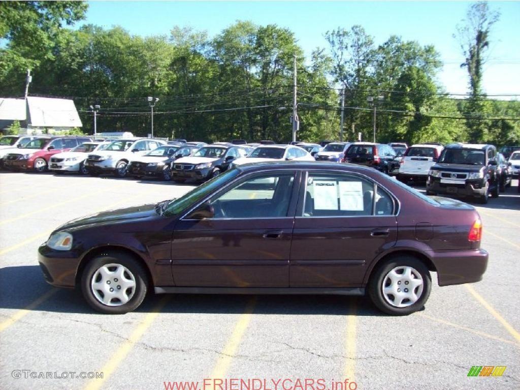 Nice Honda Civic 2000 Ex Sedan Car Images Hd 2000 Vintage Plum Honda Civic  EX Sedan
