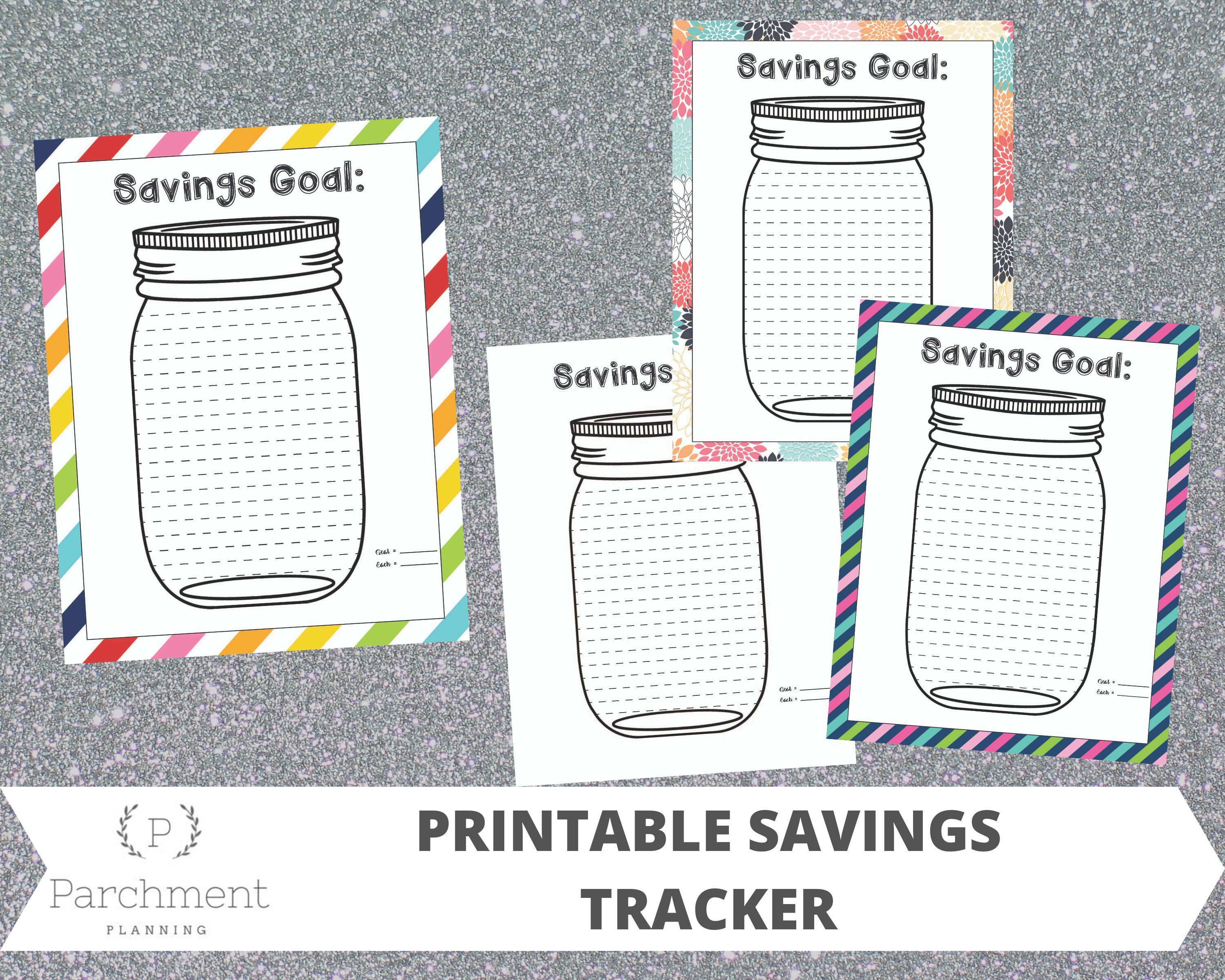 Printable Mason Jar Savings Tracker Printable Savings