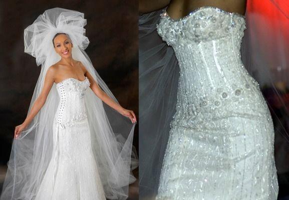 Diamond Wedding Dress by Renee Strauss and Martin Katz