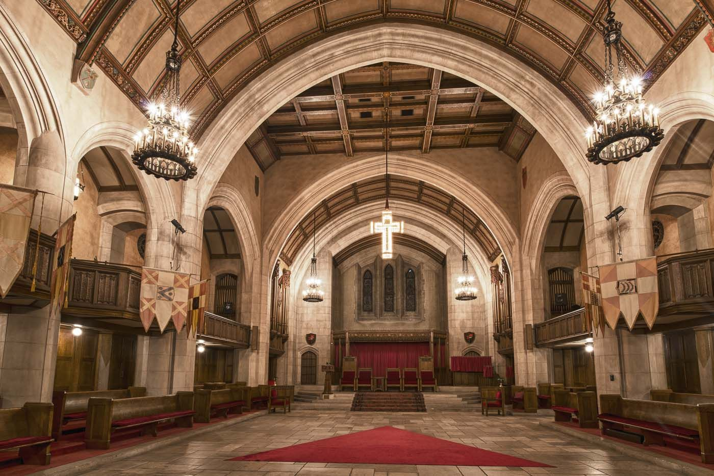 Cathedral inside of the detroit masonic temple masonic