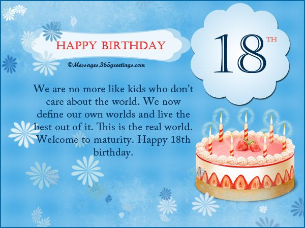 18th Birthday Wishes Messages Greetings And