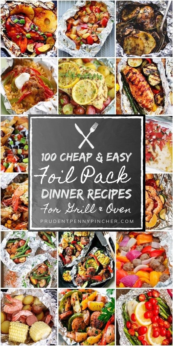 100 Cheap & Easy Foil Pack Dinners images
