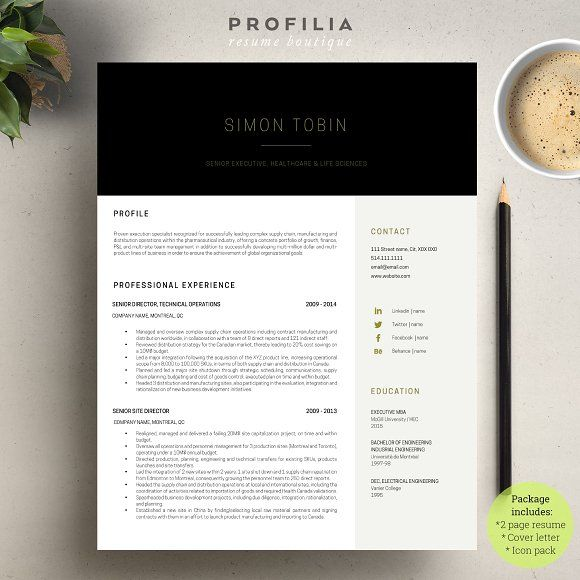 Word Resume  Cover letter Template Template