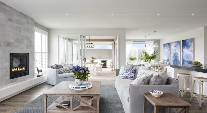 Living Rooms Modern Hamptons Style Decorating