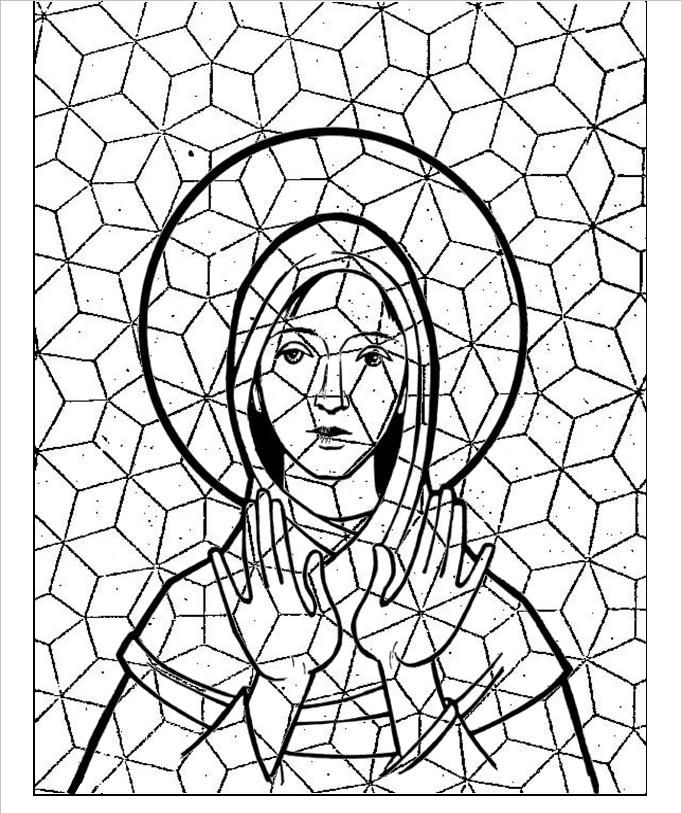 plantilla mosaico para niños - En papel de seda para poder repasar ...
