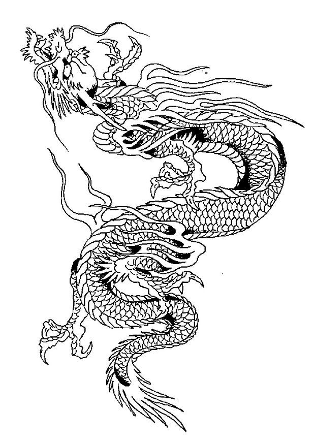 Coloriage Dragons Chinois Tattoo Pinterest Dragon Chinois