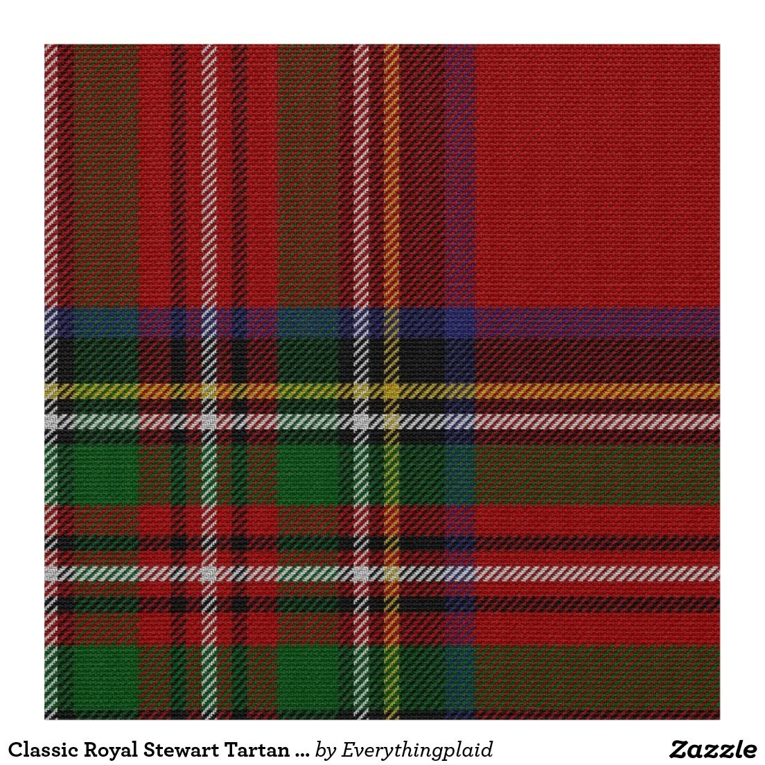 Classic Royal Stewart Tartan Plaid Fabric (With images